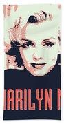 Marilyn M Beach Towel