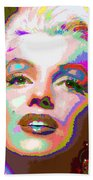 Marilyn Monroe 01 - Abstarct Beach Towel