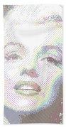 Marilyn Monroe 01 - Parallel Hatching Beach Towel