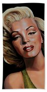 Marilyn Monroe 2 Beach Towel by Paul Meijering