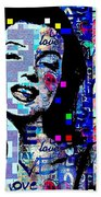 Marilyn Monroe 3 Loved.lost.loved Again Beach Towel