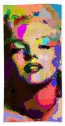 Marilyn Monroe - Abstract Beach Towel
