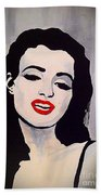 Marilyn Monroe Aka Norma Jean Artistic Impression Beach Towel
