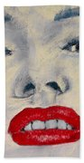 Marilyn Monroe Beach Towel by David Patterson