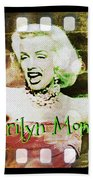 Marilyn Monroe Film Beach Towel