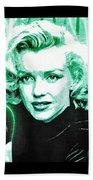 Marilyn Monroe - Green Beach Towel