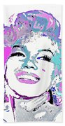 Marilyn Monroe I Want To Be Loved By You Beach Towel