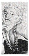 Marilyn Monroe In Mosaic Beach Towel