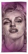 Marilyn Monroe In Pink Beach Towel
