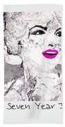 Marilyn Monroe Movie Poster Beach Towel