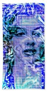 Marilyn Monroe Out Of The Blue Beach Towel
