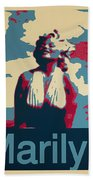 Marilyn Poster Beach Towel