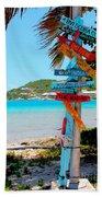 Marina Cay Sign Beach Towel