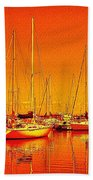 Marina Reflections Beach Towel
