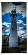 Marine City Michigan Lighthouse Beach Towel