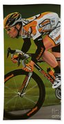 Mark Cavendish Beach Towel by Paul Meijering