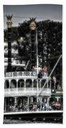 Mark Twain Riverboat Frontierland Disneyland Vertical Sc Beach Towel