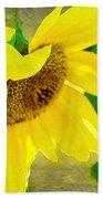 Mark Twain's Sunflowers Beach Towel