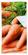 Market Carrots By Diana Sainz Beach Towel