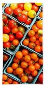 Market Fresh Tomatos Beach Towel