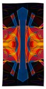 Marking Time Into Space Abstract Spiritual Artwork Beach Towel