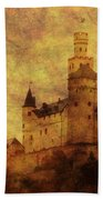 Marksburg Castle In The Rhine River Valley Beach Towel