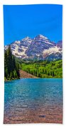 Maroon Bells In Color Beach Towel