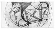 Mars: Schiaparelli, 1877 Beach Towel
