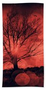 Mars Tree Beach Towel