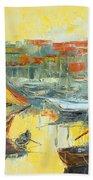 Marseille Harbour Beach Towel