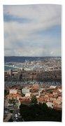 Marseille View From Cathedral Notre Dame De La Garde Beach Towel