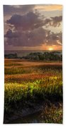 Marsh At Sunrise Beach Towel