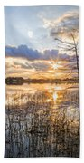 Marsh Sunrise Beach Towel
