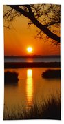 Ocean City Sunset At Old Landing Road Beach Towel