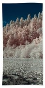 Marshall Pond In Infrared Beach Towel