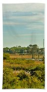 View Of St. Augustine's Cross Beach Towel