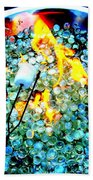 Marshmallow Fire Abstract Beach Towel