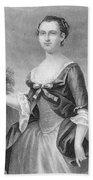 Martha Washington (1732-1801) Beach Sheet