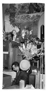 Martin Luther King Jnr 1929 1968 American Black Civil Rights Campaigner In The Pulpit Beach Towel