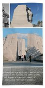 Martin Luther King Jr Memorial Collage 1 Beach Towel