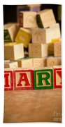 Mary - Alphabet Blocks Beach Towel