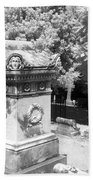 Mary And John Tyler Memorial Near Infrared Black And White Beach Towel