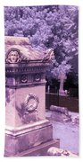 Mary And John Tyler Memorial Near Infrared Lavender And Pink Beach Towel
