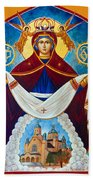 Mary In Red Beach Towel