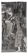 Mary Magdalene At The Door Of Simon Beach Towel