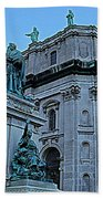 Mary Queen Of The World Cathedral - Side View In Hdr Beach Towel