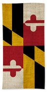 Maryland State Flag Beach Towel by Pixel Chimp