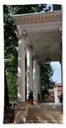 Maryland State House Columns Beach Towel