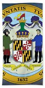 Maryland State Seal Beach Towel