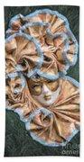 Maschera Di Carnevale Beach Towel